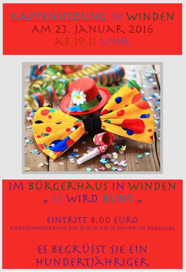 Karneval-Winden-Plakat