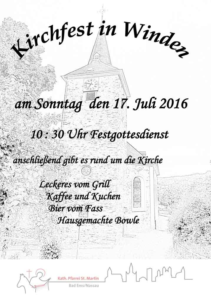 Plakat Kirchfest  2016 NL-1
