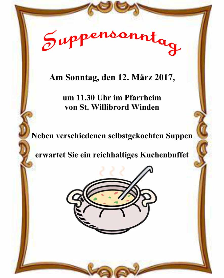 Suppensonntag Winden 2017