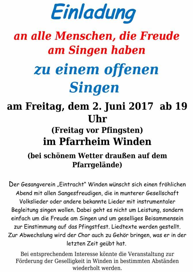 Plakat Offfenes Singen 2.6