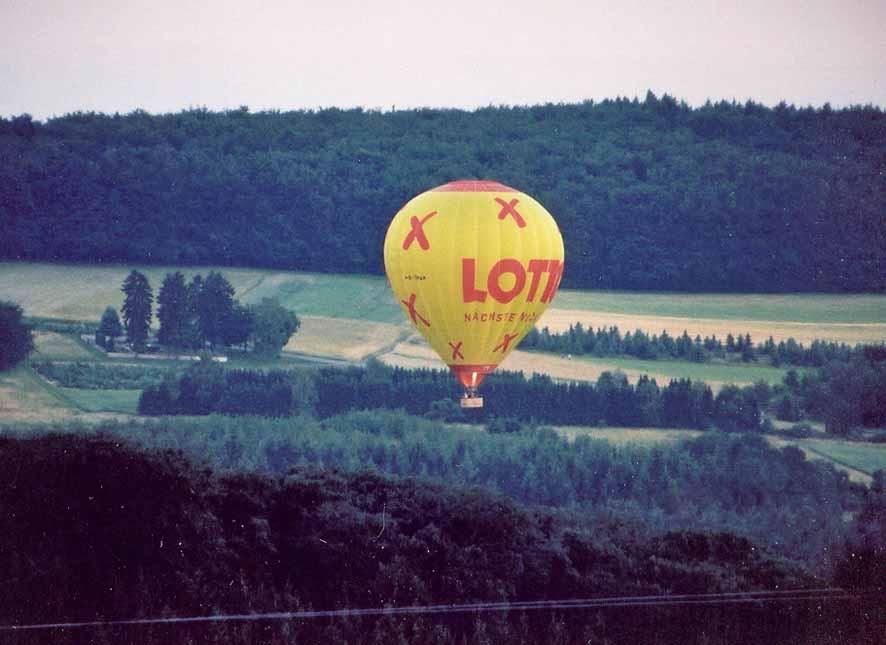 Heißluftballon im Flug